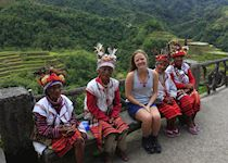 Isabel with local elders in Banaue, Philippines