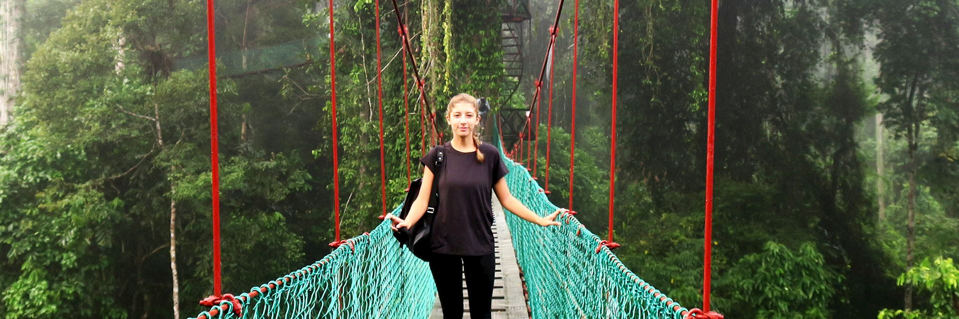 Jade visiting Danum Valley, Borneo