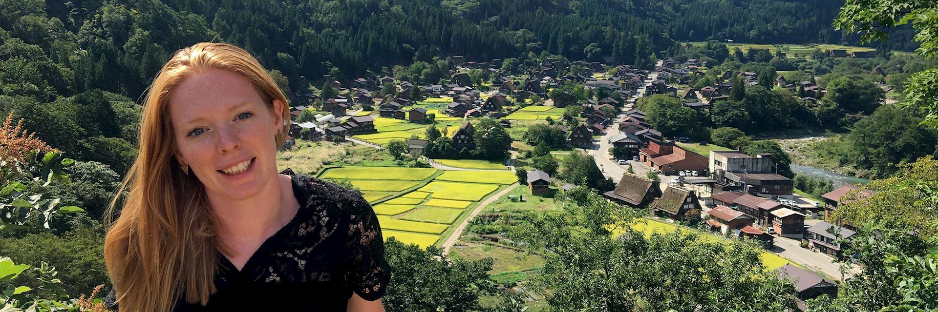 Jo visiting Shirakawa, Japan