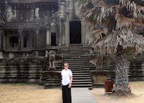 Kate exploring Angkor Wat, Cambodia