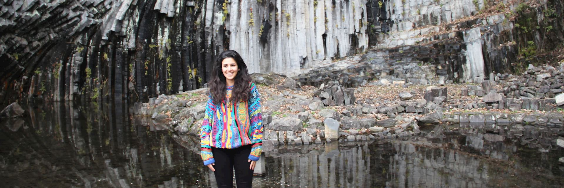 Leeona in Genbudo Caves, Kinosaki Onsen