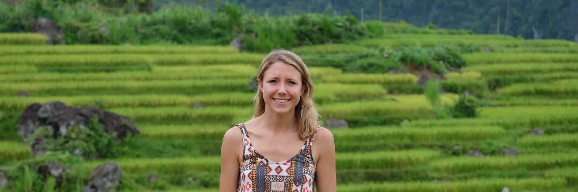 Lindsey on Mai Chau