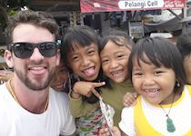 Mat with some Balinese children