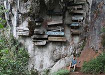 Mat at the hanging coffins of Sagada, Philippines