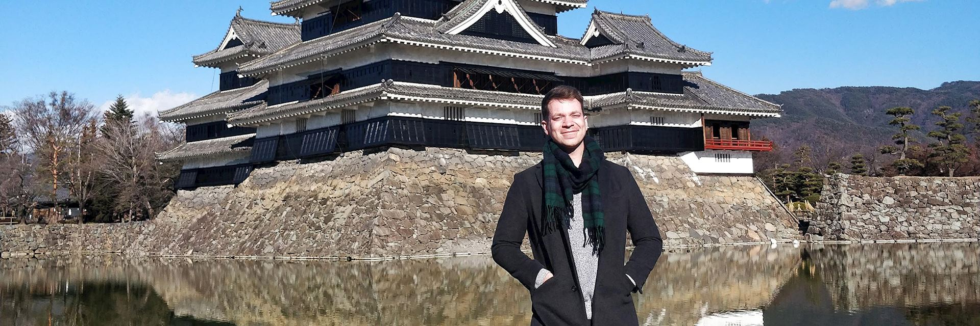 Matthew visiting Matsumoto Castle, Japan