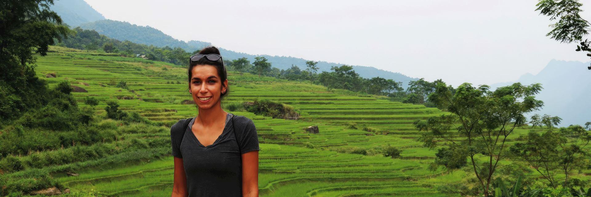 Natasha in Mai Chau, Vietnam