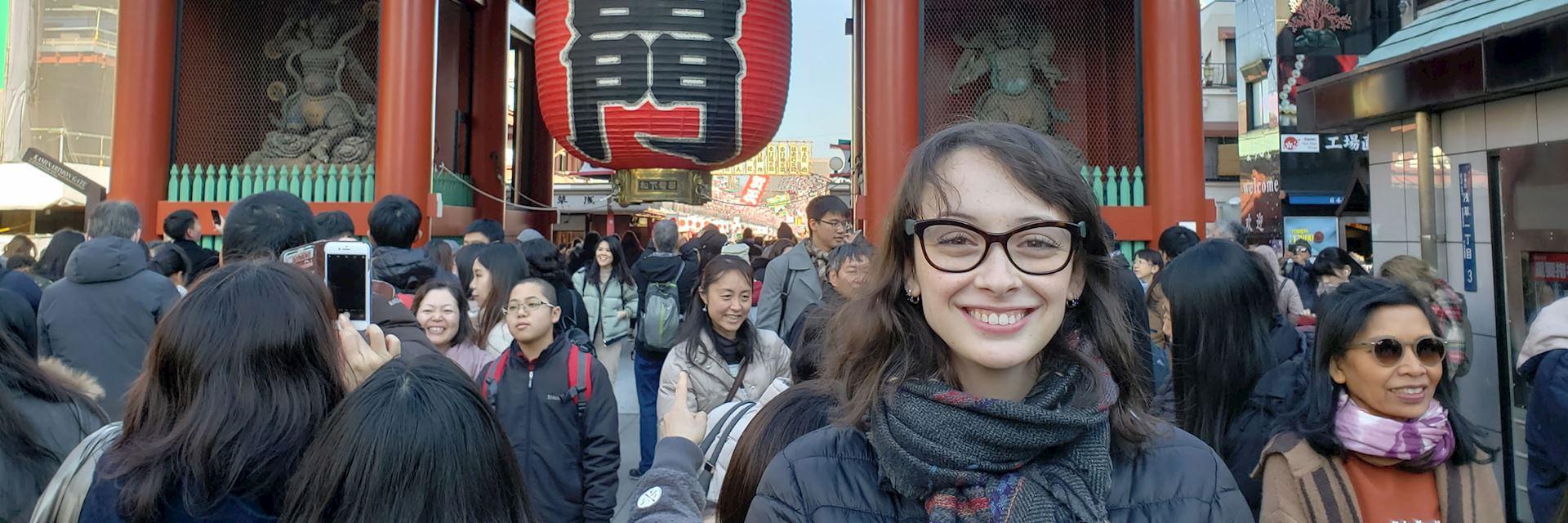 Rachel in Tokyo's Asakusa district