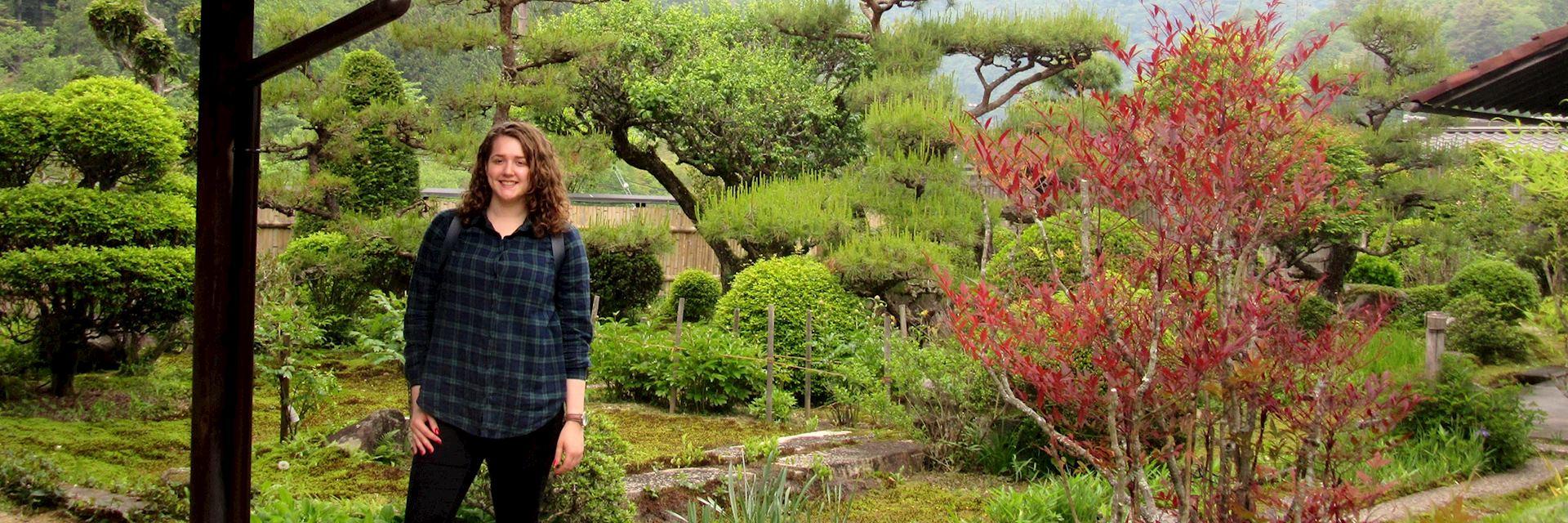 Rebecca in Tsumago, Japan