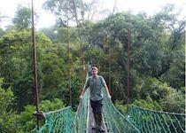 Rob on a canopy walk, Danum Valley, Borneo