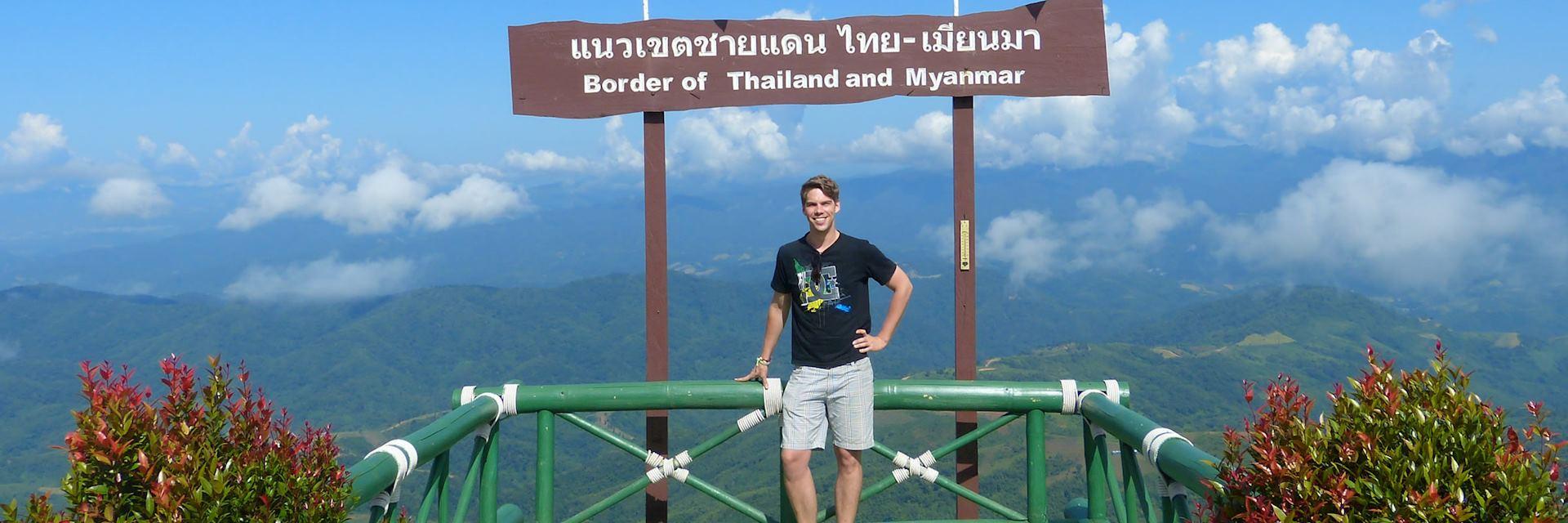 Rob on the Thai-Burma border