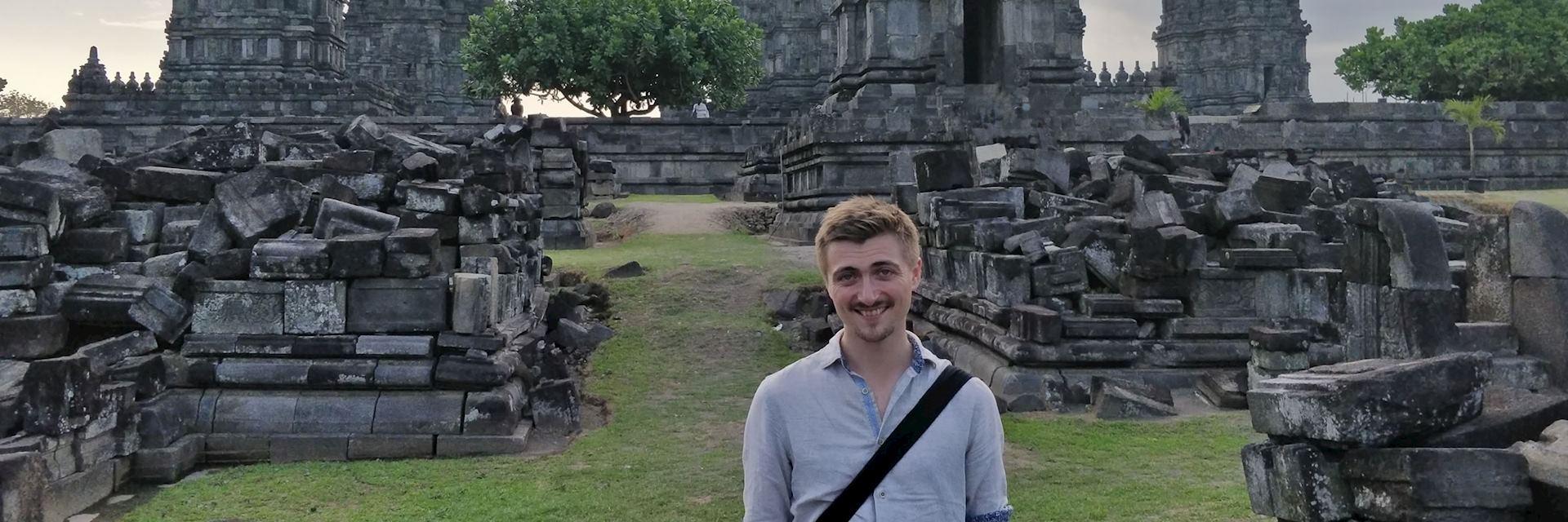 Sean at Prambanan, Indonesia