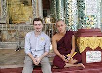 Sean at Shwedagon Pagoda, Burma