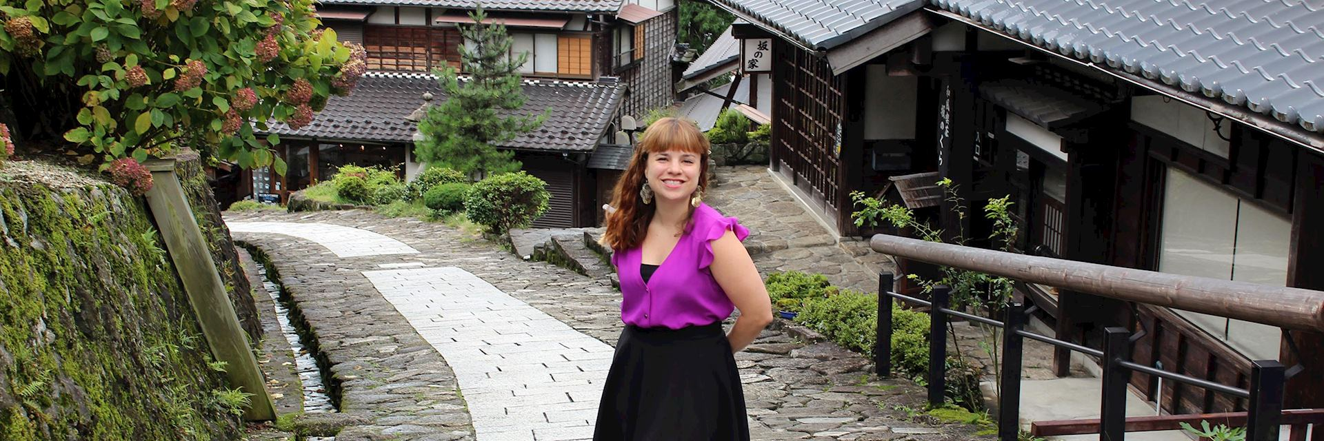 Tamatha visiting Magome, Japan