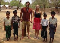 Tom visiting the children at Set Set Yo, Burma
