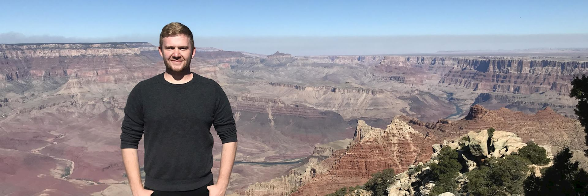 Alex in the Grand Canyon