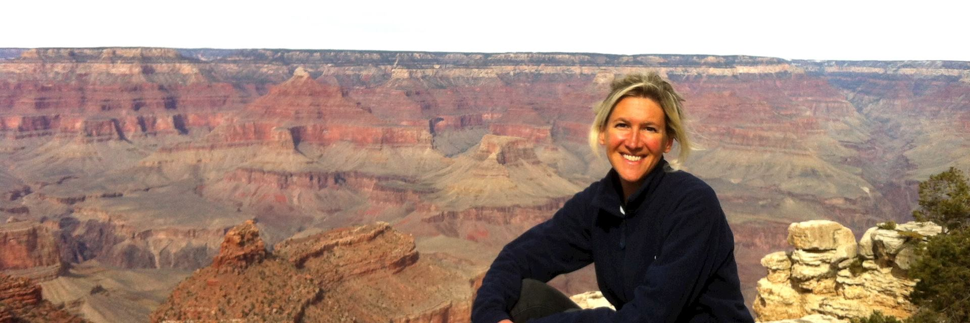 Beth at the South Rim, Grand Canyon