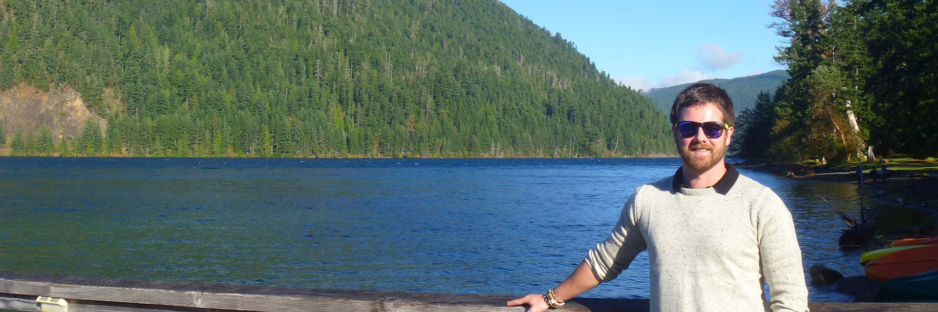 Carl at Lake Crescent, Olympic National Park, USA