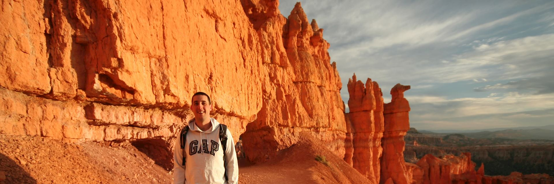 Dave in Bryce Canyon, the USA