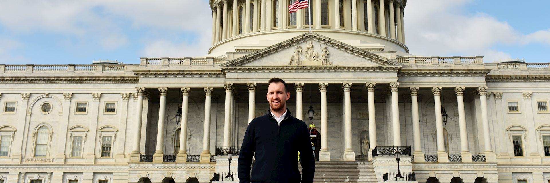 Jonathan in front of the Capitol Building, Washington DC