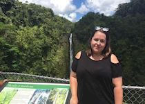 Lizzie at Akaka Falls, Island of Hawaii