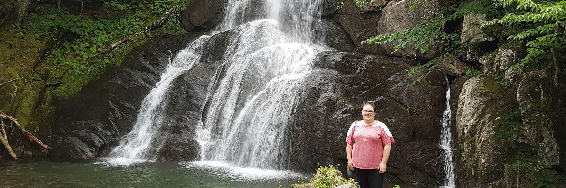 Natalie at Moss Glen Falls, near Granville, Vermont