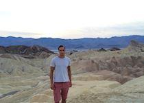 Ross at Zabriskie Point in Death Valley, California