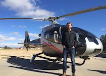 Tom about to take a Heli flight over the Grand Canyon, Arizona
