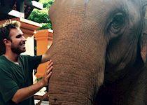 Alex with Bo at Elephant Hills, Khao Sok National Park, Thailand
