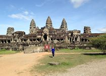 Amanda at Angkor Wat in Siem Reap, Cambodia