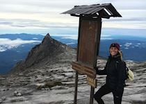 Blair at the top of Mount Kinabalu