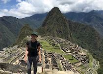Carley visiting Machu Picchu