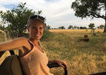 Devon at Shinde Camp Concession in Botswana