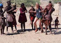 Hailey visiting Himba in Namibia