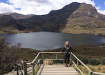 alpine lake in Ecuador