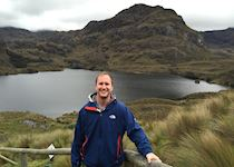 Harry on a trip to Las Cajas National Park