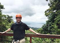 Before ziplining in Arenal