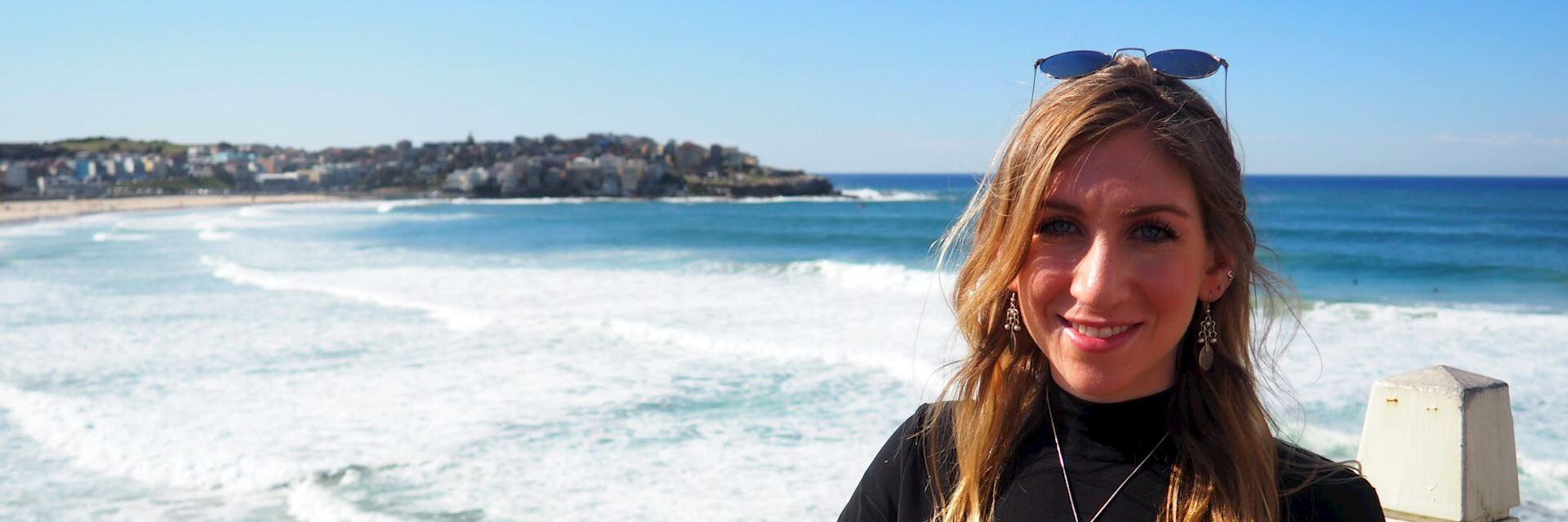 Jenna on Bondi Beach, Australia
