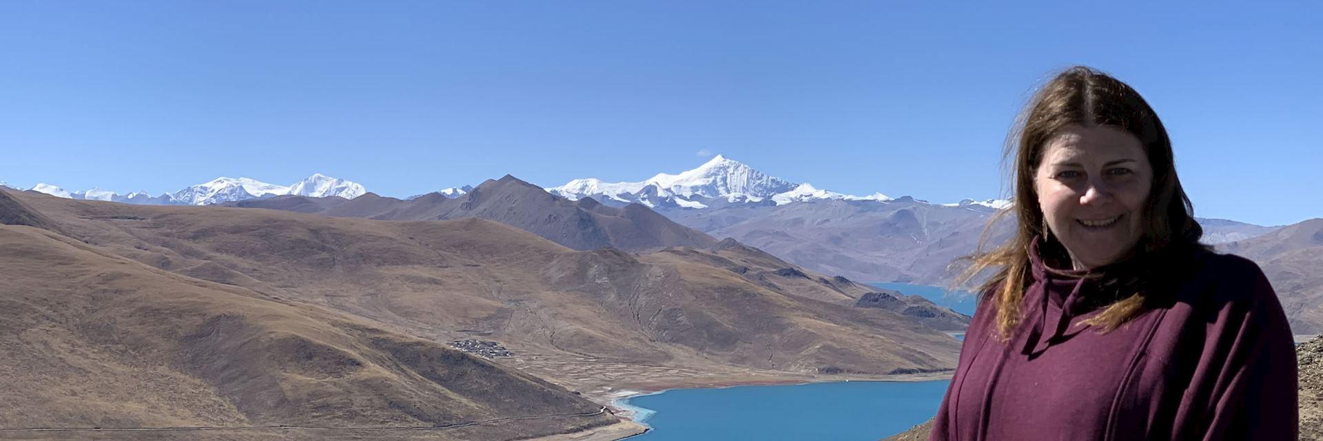 Kara at Yamdrok-tso in Tibet