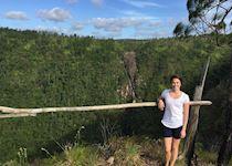 Katie in the Hidden Valley in Belize