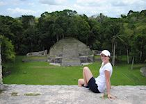 Katie at the Mayan site of Caracol