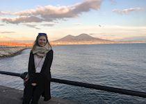 Laura at Mount Vesuvius