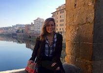 Laura at Ponte Vecchio
