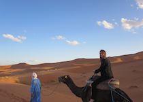 Riding a Camel in Erg Chebbi