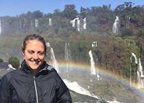 Megan at Igaucu Falls