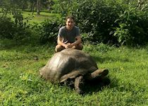 Michael exploring the Galapagos Islands