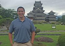In front of the Matsumoto Castle, Nagano, Japan