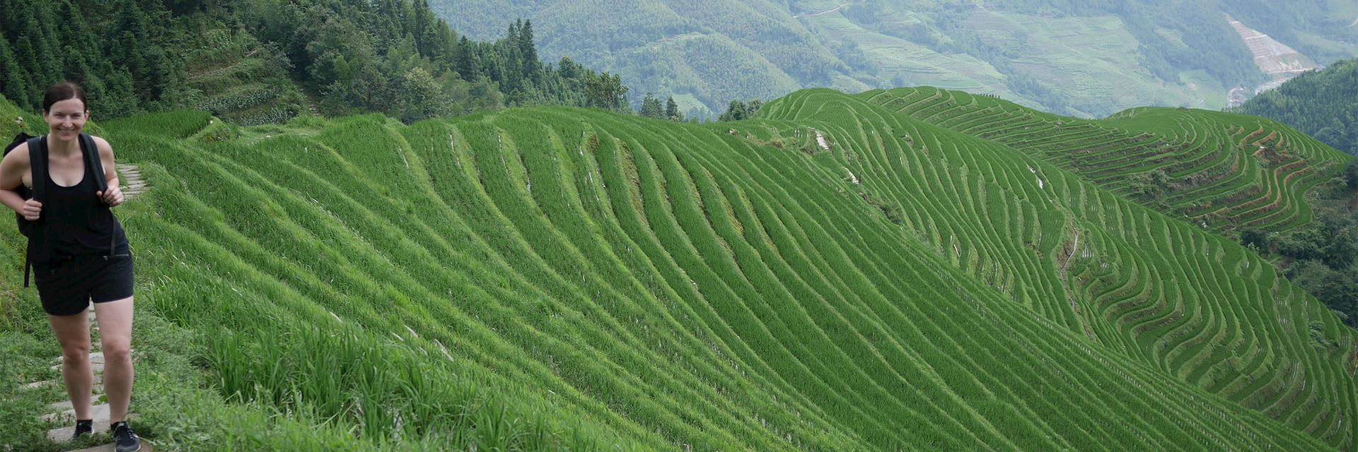 Hiking through the Longji Rice Terraces