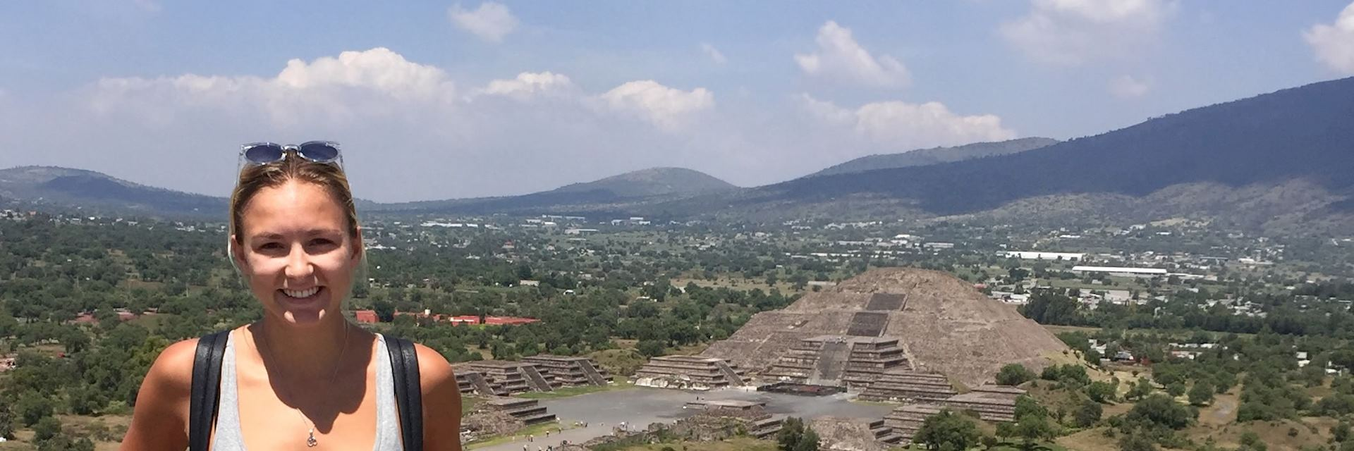 Victoria at Teotihuacan, Mexico City