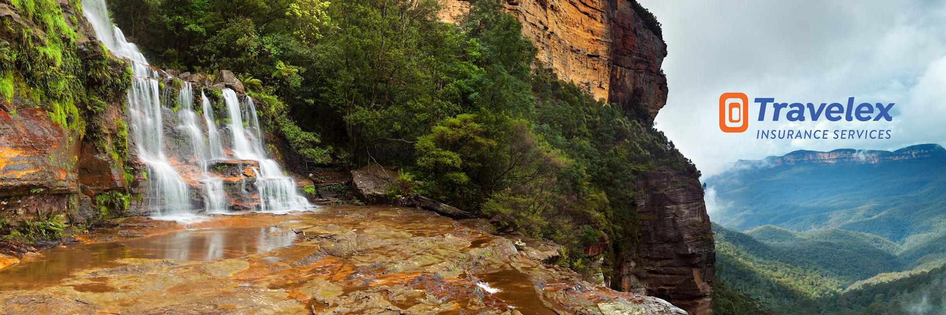 Katoomba Falls in the Blue Mountains, New South Wales, Australia