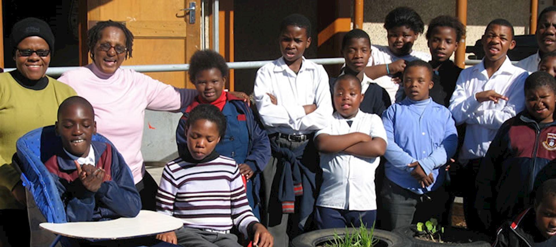 Pupils at the Khayelitsha special needs school, Uthando Tour, South Africa